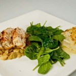 Mustard Chicken with Dauphinoise