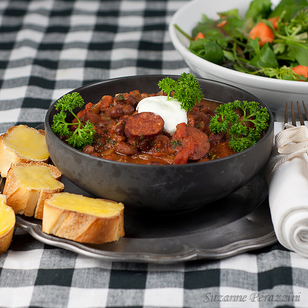 Spicy Sausage & Bean Hot Pot