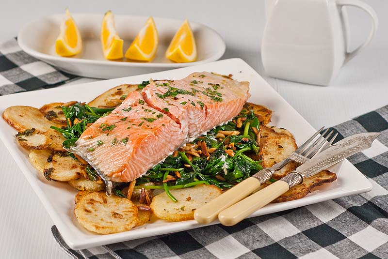Roasted Salmon and Crispy Potatoes  - Low Fodmap & gluten-fre