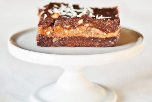 Chocolate, banana, coconut slices  600 post
