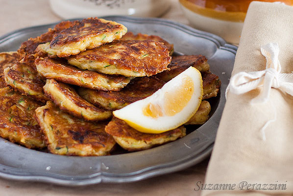 Gruyere, Courgette Fritters
