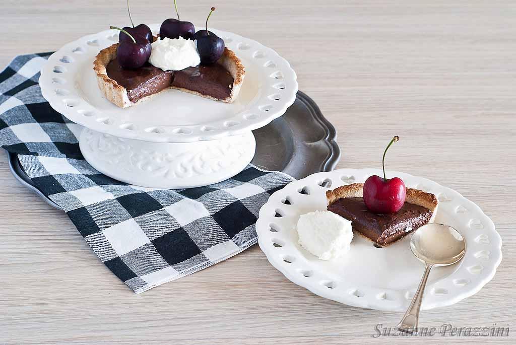 Chocolate Banana Tart - grain, dairy and refined sugar-free