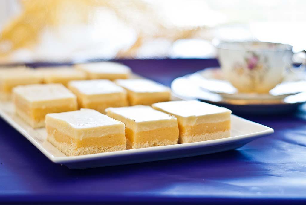 Creamy Lemon Slice - grain, nut, dairy & sugar-free