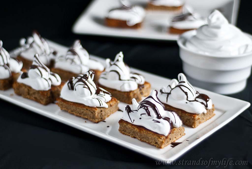 Banana peanut butter meringue bars - gluten & grain-free