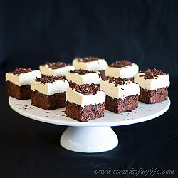 Double Chocolate Brownie Cheesecake Squares – gluten free & low FODMAP
