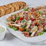 Crispy Polenta Chicken Caesar Salad – gluten free & low fodmap