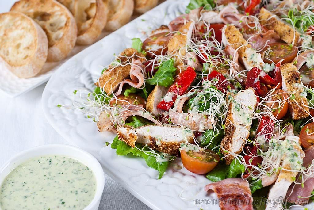 Crispy Polenta Chicken Caesar Salad – Jamie Oliver's 15 minute meals
