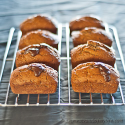 Mini banana Chocolate loaves 250 (1 of 2)