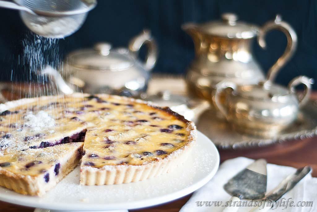 Blueberry Sour Cream Tart - Gluten-Free & low FODMAP