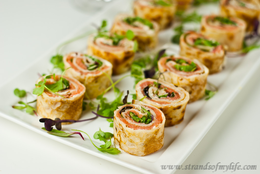 Salmon, Cream Cheese Pancake Rolls – gluten-free & low FODMAP
