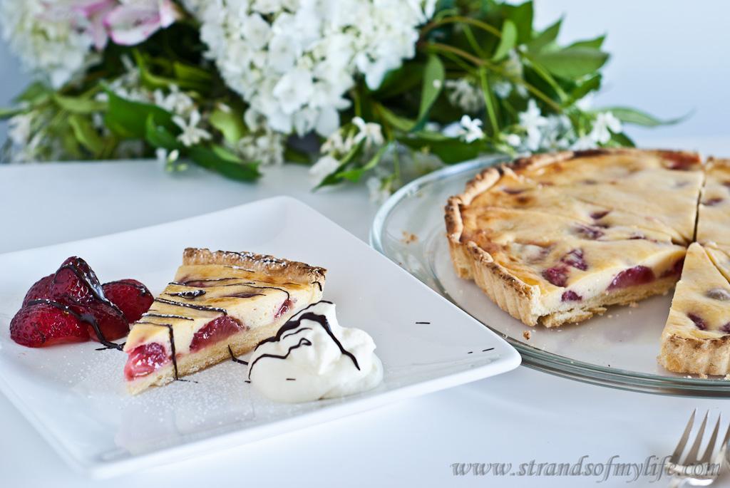 Strawberry Sour Cream Tart - gluten-free and low FODMAP