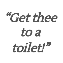 Get thee to a toilet