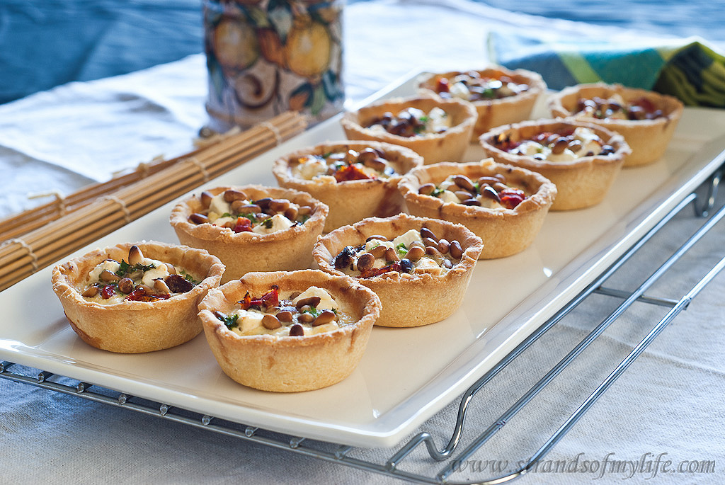 Feta & Sundried Tomato Tarts - gluten-free and low FODMAP