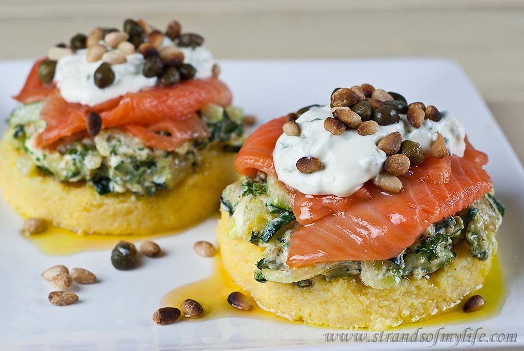 Salmon & Courgette Stacks - gluten-free and low FODMAP