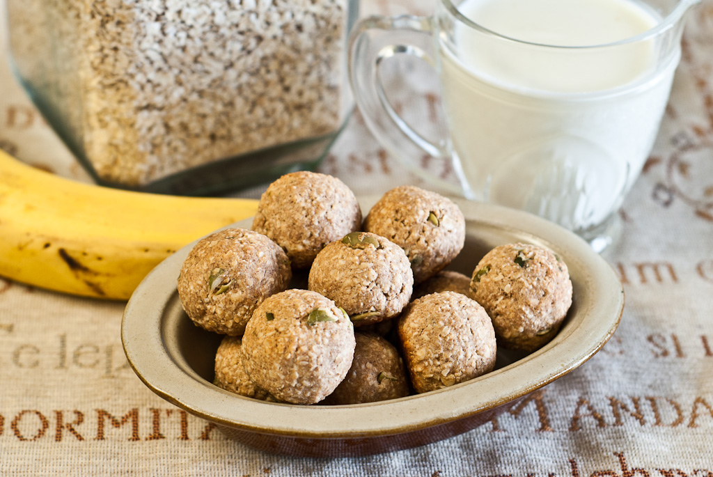 Banana Oat Truffles - low Fodmap and gluten-free