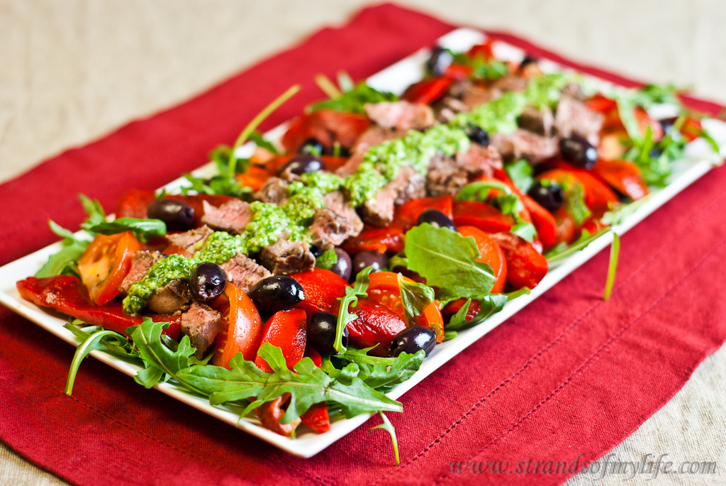 Greek Lamb Salad - low Fodmap