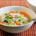 Chicken and Rice Soup – low Fodmap and gluten-free