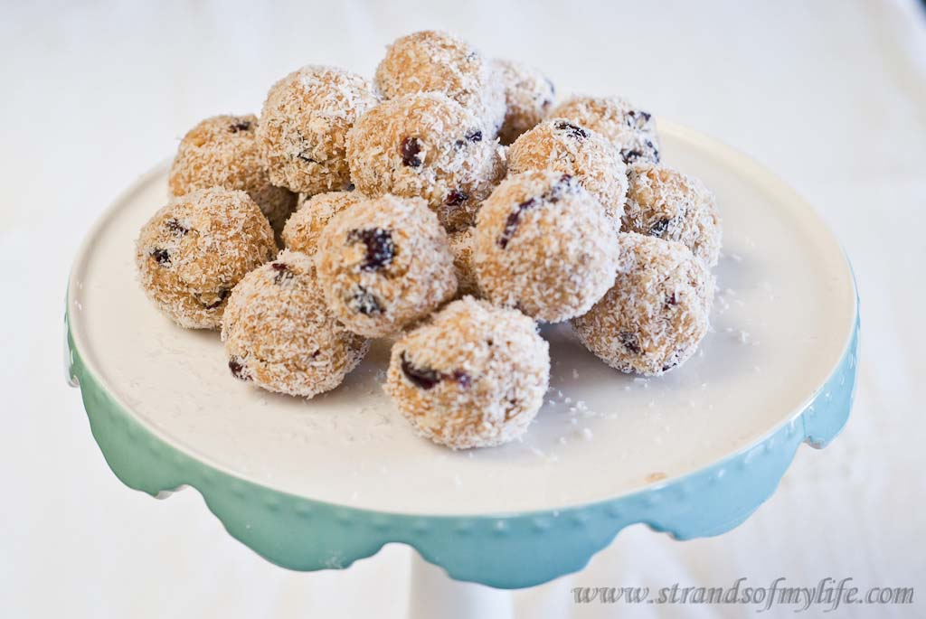 Peanut Butter & Cranberry Truffles – low Fodmap