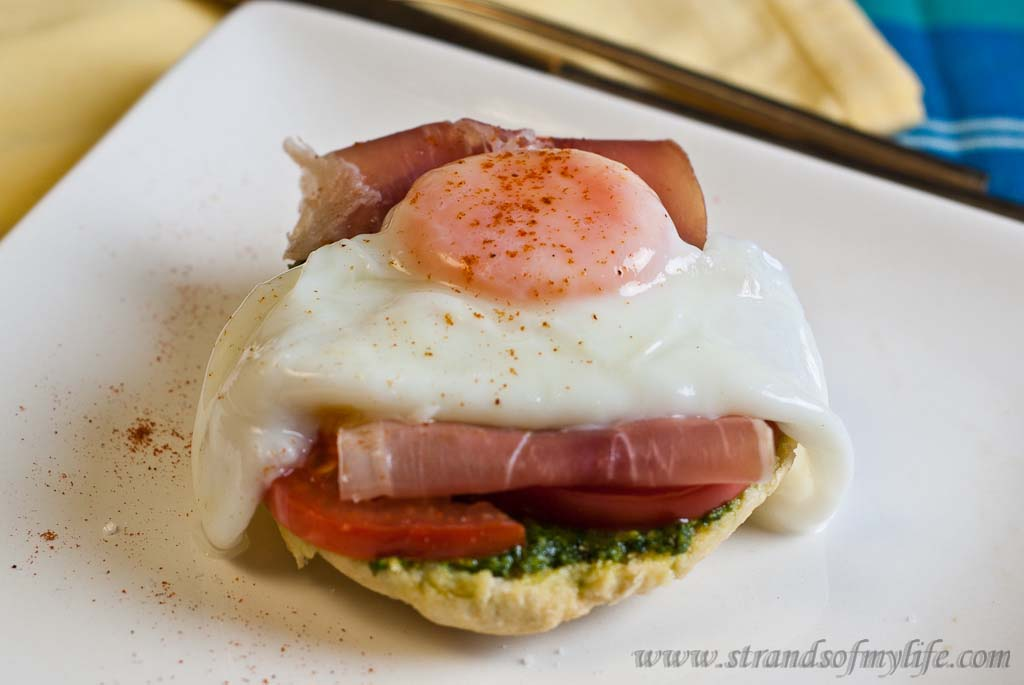 Pesto & Prosciutto Open Sandwiches - low Fodmap