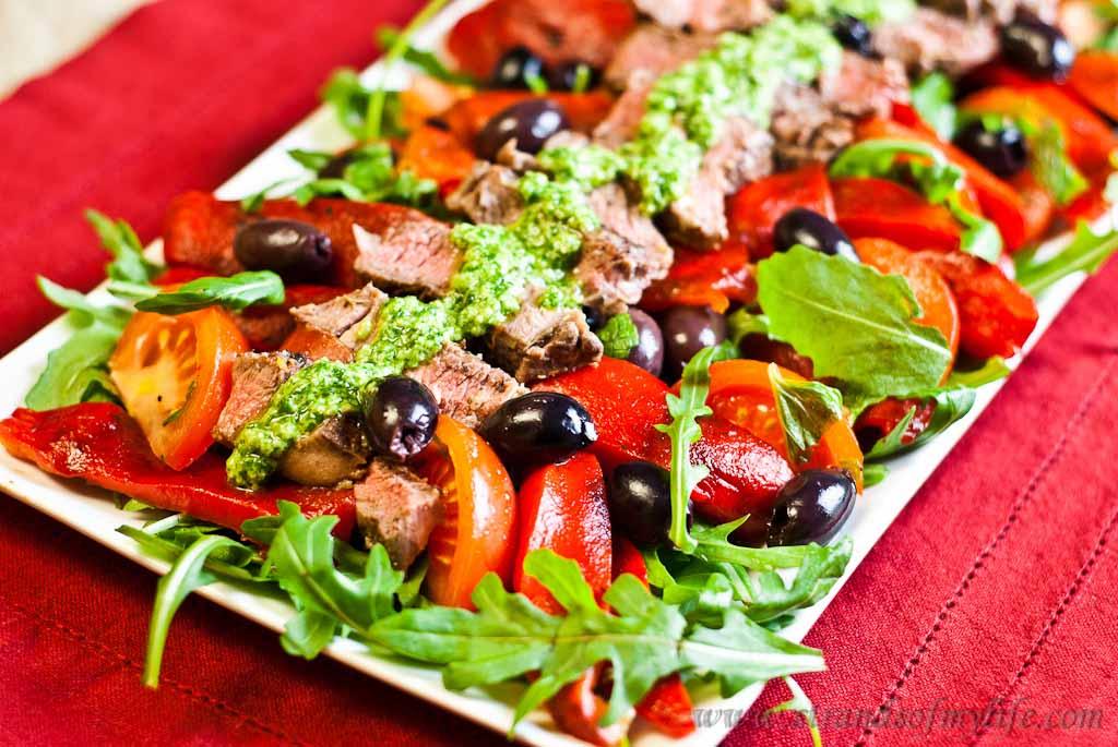 low Fodmap greek-lamb-salad