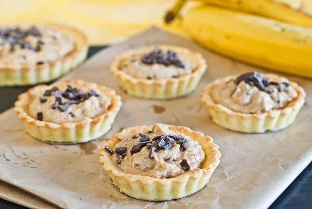 Low Fodmap Peanut Banana Tarts