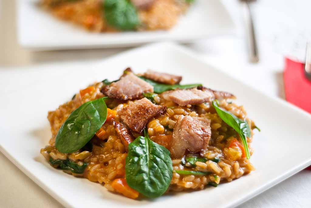 Low Fodmap Bacon & Spinach Risotto
