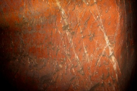 Deeper in the caves, the walls of the 18 foot tunnel still show chisel marks of the original craftsmen