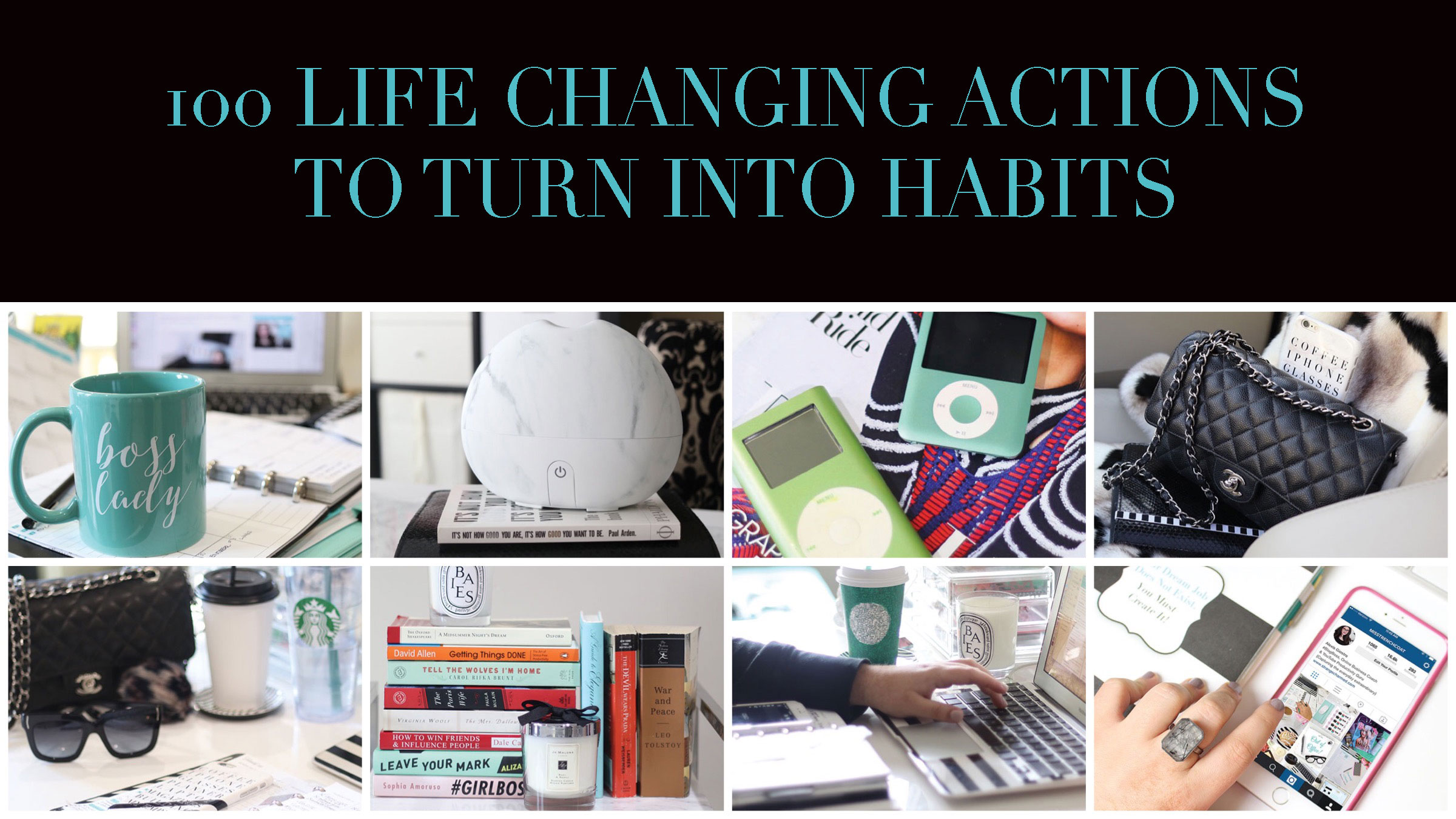 100 Life Changing Actions To Turn Into Habits Worksheet