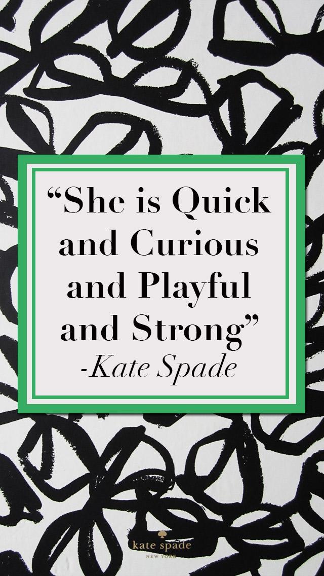 Iphone 5c Quote Wallpapers Inspired By Kate Spade Strange Amp Charmedstrange Amp Charmed