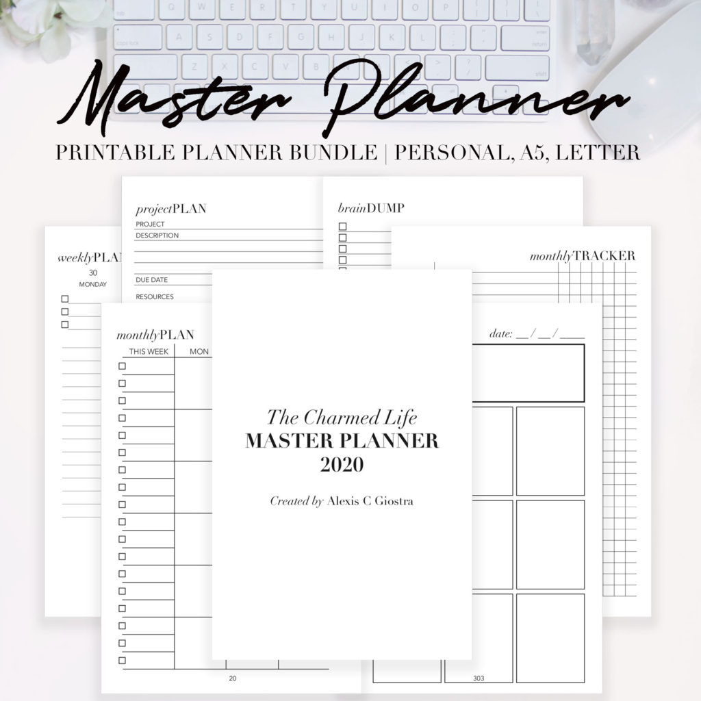 Master Planner Printable Bundle