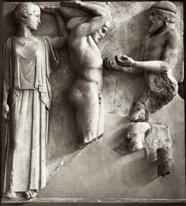 Athena in classical peplos