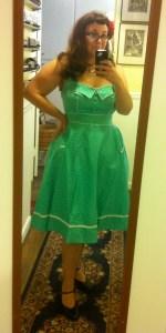 Hell Bunny Olive Dress