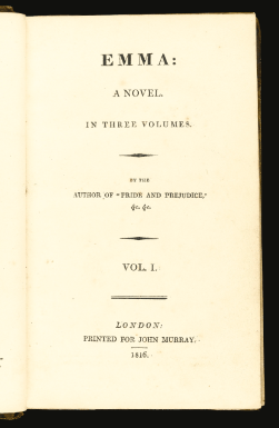 Ann Sharp's Copy of Emma Frontispiece