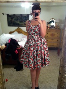 Lana dress in rosegarden print