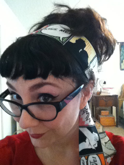 Planet Pinup comic hairscarf