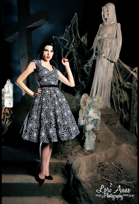 Spiderweb Heidi Dress by Pinup Couture