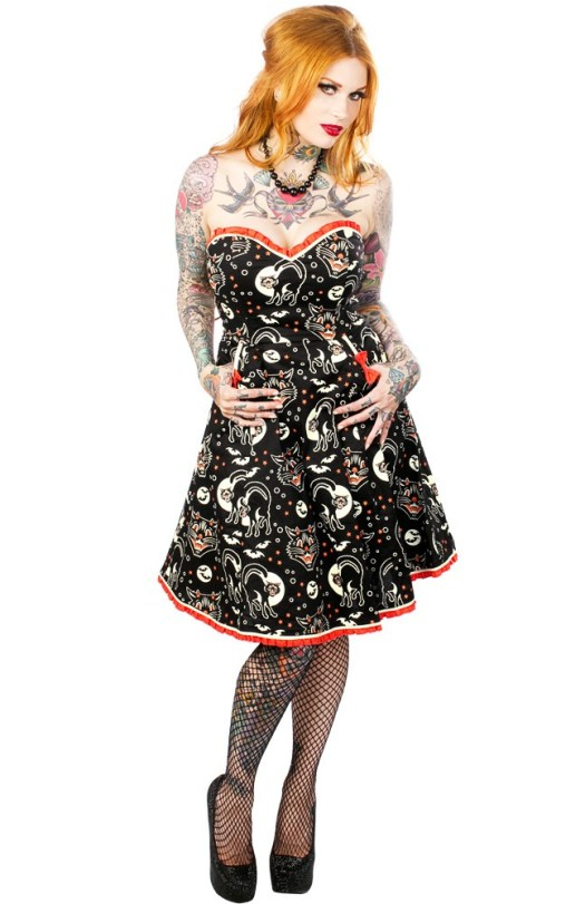 Sourpuss Lucy Fur Dress