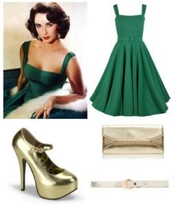 Liz Taylor original dress + 20th Century Foxy reproduction