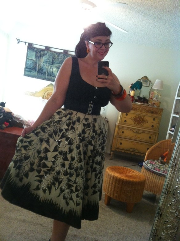 Deadstock suntop and vintage Mexican skirt