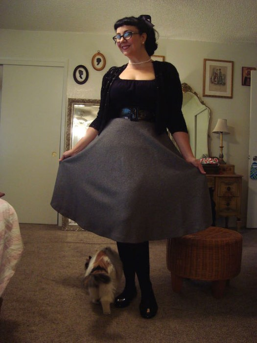 Betty Le Bonbon midi skirt