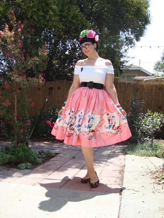 Mary Blair Parasol print skirt