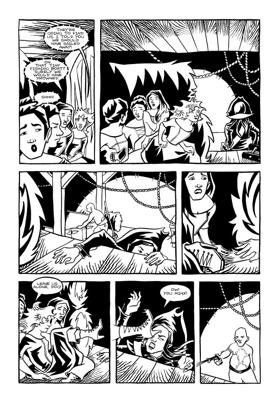<cite>Violet Miranda</cite>, Page 14 © Emily Pohl-Weary and Willow Dawson 2005
