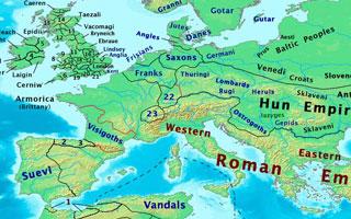 Boundaries c. 450 CE