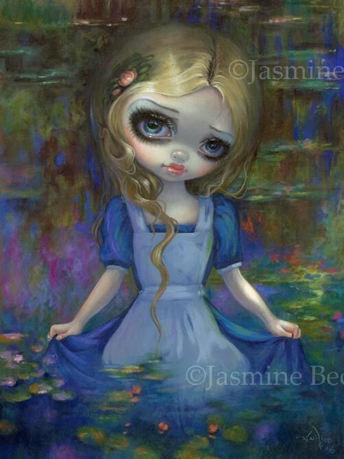 Alice In Monets Water Lilies Strangeling The Art Of
