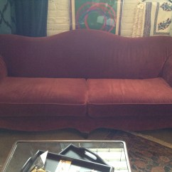 Vintage Camel Back Sofa Lip Uk Burgundy Price Reduction Sold