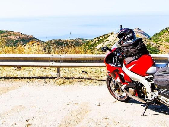 potovanje z motorjem in priprava prtljage