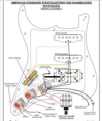 american standard stratocaster wiring diagram  2001 vw