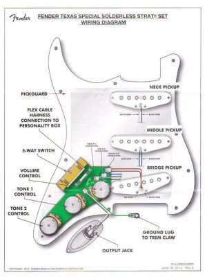 guitar pickup wiring diagram six stroke engine jst connectors on pickguard and in | fender stratocaster forum