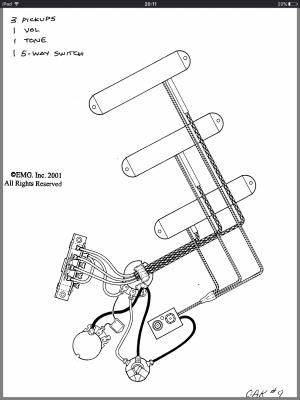 Emg Wiring Diagram 81 85 1 Volume 1 Tone
