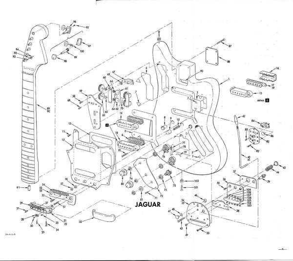 fender pickups wiring diagram tool to create sequence jaguar exploded view | stratocaster guitar forum
